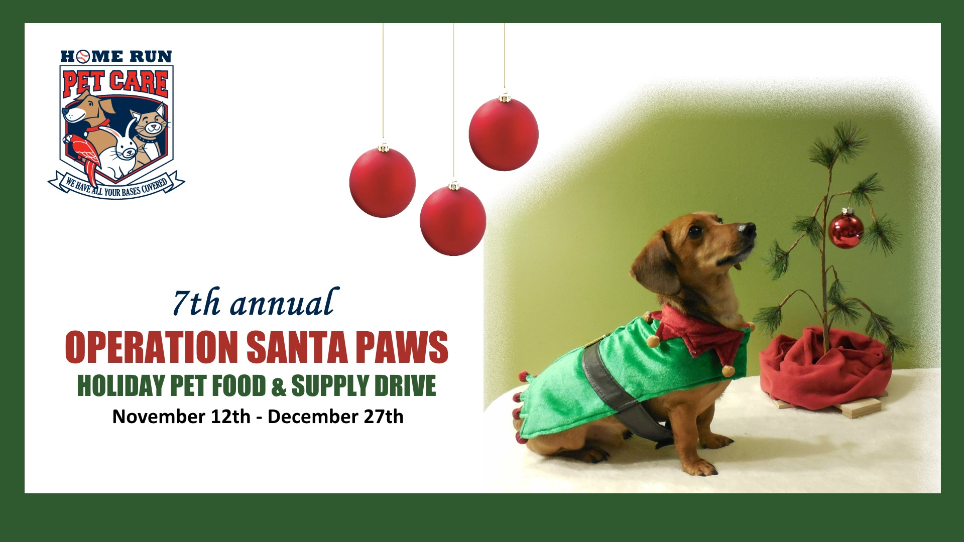 7th Annual Operation Santa Paws Pet Food & Supply Drive
